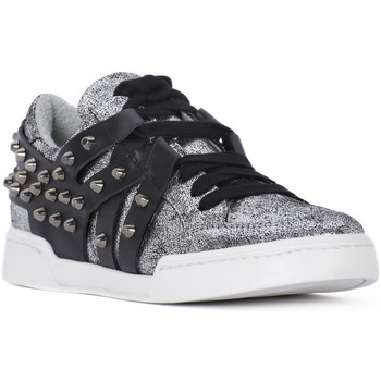 Skor Dam Sneakers At Go GO MICROCRACK ARGENTO Grigio