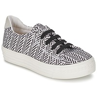 Skor Flick Sneakers Shwik STEP LO CUT Svart / Vit