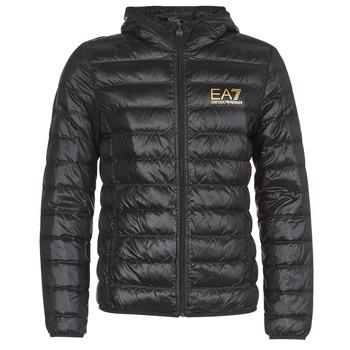 textil Herr Täckjackor Emporio Armani EA7 TRAIN CORE ID M DOWN LIGHT Svart / Guldfärgad