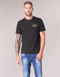 textil Herr T-shirts Emporio Armani EA7 JAZKY Svart / Guldfärgad