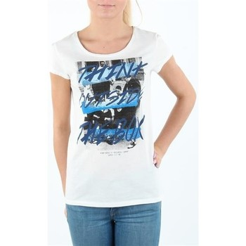 textil Dam T-shirts Lee T-shirt Damski SLIM T CLOUD DANCER L41MEVHA white