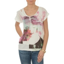 textil Dam T-shirts Lee T-shirt  Night Cloud Dancer L485AUHA white