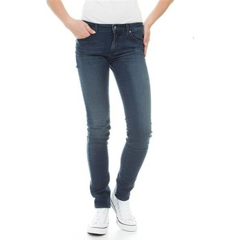 textil Dam Skinny Jeans Wrangler Molly River Washed W251ZB33T blue