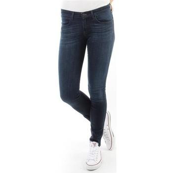 textil Dam Skinny Jeans Wrangler Spodnie Damskie CORYNN BLUE SHELTER W25FU466N blue