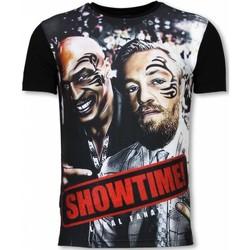 textil Herr T-shirts Local Fanatic Showtime Digital Rhinestone Z Svart