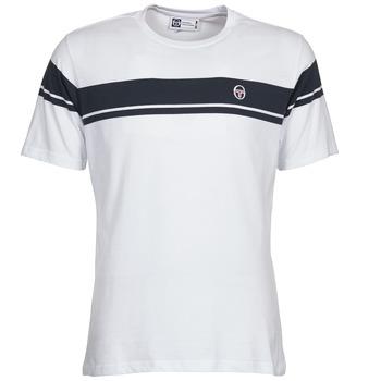 textil Herr T-shirts Sergio Tacchini YOUNG LINE Vit