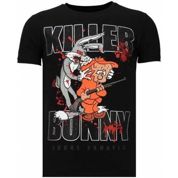 textil Herr T-shirts Local Fanatic Killer Bunny Rhinestone Z Svart