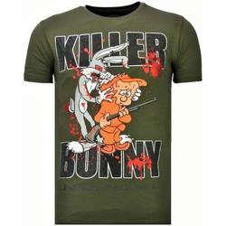 textil Herr T-shirts Local Fanatic Killer Bunny Rhinestone K Khaki Grön