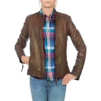 textil Dam Jackor & Kavajer Wrangler skórzana  WR4030ZC81 brown