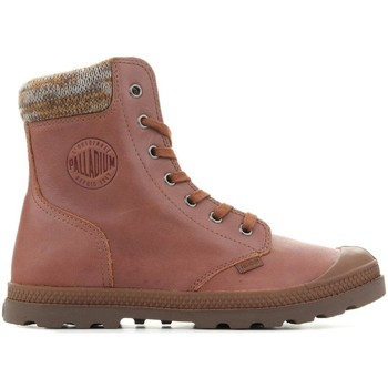 Skor Dam Boots Palladium Manufacture Pampa Knit LP F 95172-733-M brown