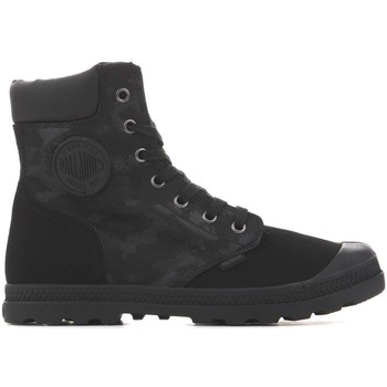 Skor Dam Boots Palladium Manufacture Pampa HI Knit LP Camo 95551-008 black