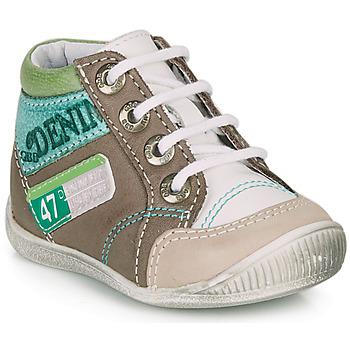 Skor Pojkar Boots GBB PANCRACE Vit / Grön / Mullvadsfärgad