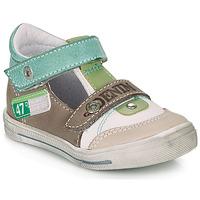 Skor Pojkar Sandaler GBB PEPINO Vit / Grön / Mullvadsfärgad