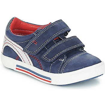Skor Pojk Sneakers Catimini PERRUCHE Marinblå / röd / Strike