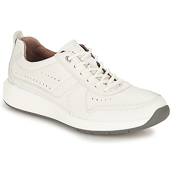 Skor Herr Sneakers Clarks Un Coast Form Vit / Leather