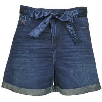 textil Dam Shorts / Bermudas Diesel DE-KAWAII Blå / Mörk