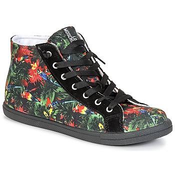 Skor Dam Höga sneakers Love Moschino JA15132G0KJE0000 Svart / Flerfärgad