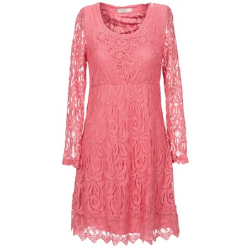 textil Dam Korta klänningar Cream ANNEMON LACE Rosa