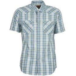textil Herr Kortärmade skjortor Levi's WOVENS Blå