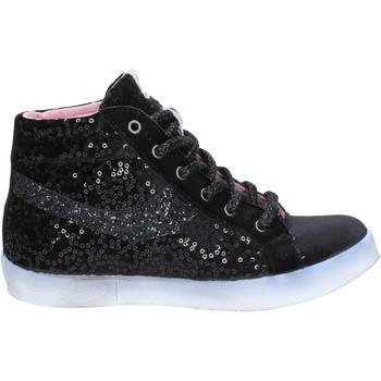 Skor Dam Höga sneakers Fiori Di Picche sneakers nero velluto paillettes BX345 Nero