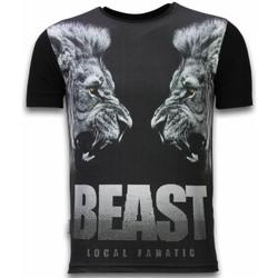 textil Herr T-shirts Local Fanatic Beast Digital Rhinestone Z Svart