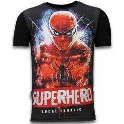 textil Herr T-shirts Local Fanatic Superhero Spider Rhinestone Z Svart