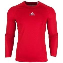 textil Herr Långärmade T-shirts adidas Originals Alphaskin LS Röda