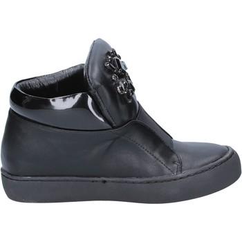 Skor Dam Stövletter Sara Lopez sneakers nero pelle BX704 Nero