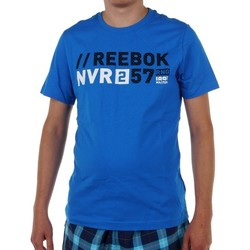 textil Herr T-shirts Reebok Sport Actron Graphic Blå