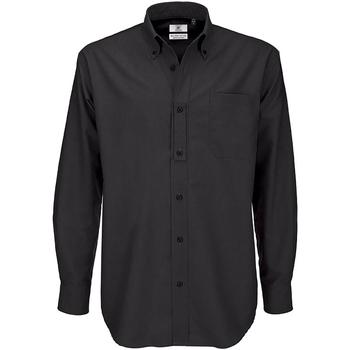 textil Herr Långärmade skjortor B And C SMO01 Svart