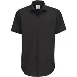 textil Herr Kortärmade skjortor B And C SMP62 Svart