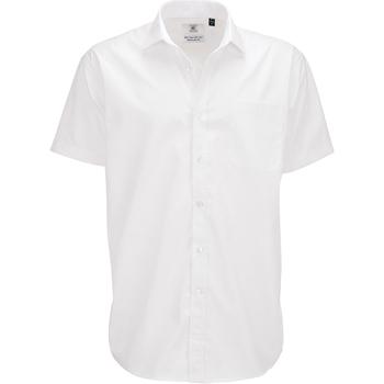 textil Herr Kortärmade skjortor B And C SMP62 Vit