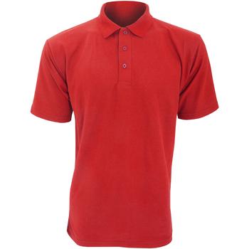 textil Herr Kortärmade pikétröjor Ultimate Clothing Collection UCC003 Röd