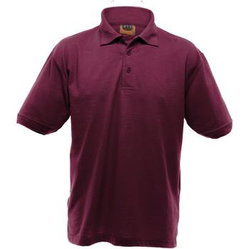 textil Herr Kortärmade pikétröjor Ultimate Clothing Collection UCC004 Bourgogne