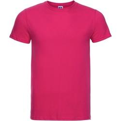 textil Herr T-shirts Russell R155M Fuchsia