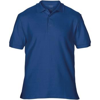 textil Herr Kortärmade pikétröjor Gildan Premium Marinblått