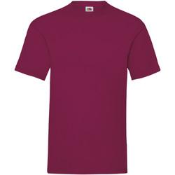 textil Herr T-shirts Fruit Of The Loom 61036 Bourgogne