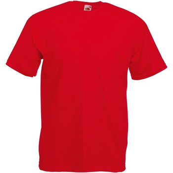 textil Herr T-shirts Fruit Of The Loom 61036 Röd