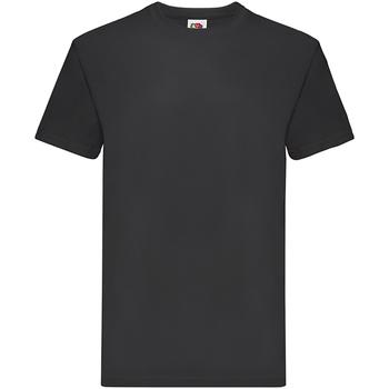 textil Pojkar T-shirts Fruit Of The Loom 61044 Svart
