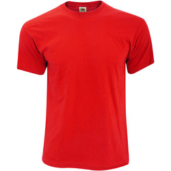 textil Herr T-shirts Fruit Of The Loom 61082 Röd