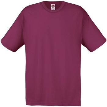 textil Herr T-shirts Fruit Of The Loom 61082 Bourgogne