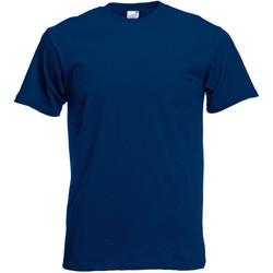 textil Herr T-shirts Fruit Of The Loom 61082 Marinblått