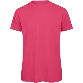textil Herr T-shirts B And C TM042 Fuchsia