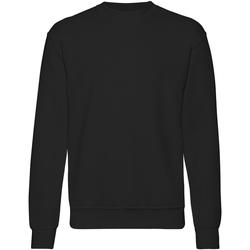 textil Herr Sweatshirts Fruit Of The Loom 62202 Svart
