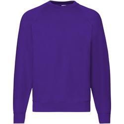 textil Herr Sweatshirts Fruit Of The Loom 62216 Lila
