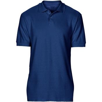 textil Herr Kortärmade pikétröjor Gildan 64800 Marinblått
