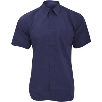 textil Herr Kortärmade skjortor Fruit Of The Loom 65116 Marinblått