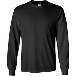 textil Herr Långärmade T-shirts Gildan 2400 Svart