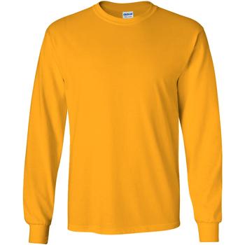 textil Herr Långärmade T-shirts Gildan 2400 Guld