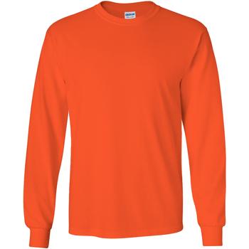 textil Herr Långärmade T-shirts Gildan 2400 Orange